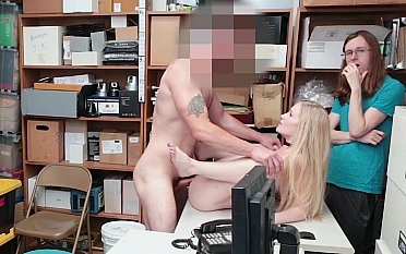 Blonde babe punished for stealing